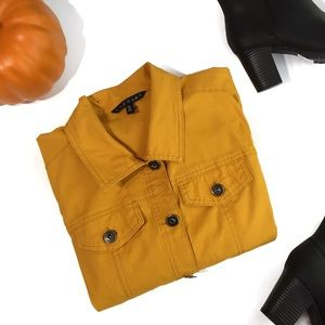 Mustard Yellow Denim Jacket